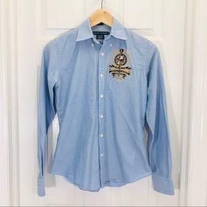 Ralph Lauren Slim Fit Blue Classic Dress Shirt